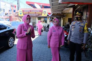 Ketua Bhayangkari Sulsel Laksanakan Kunker ke Mapolres Pelabuhan Makassar