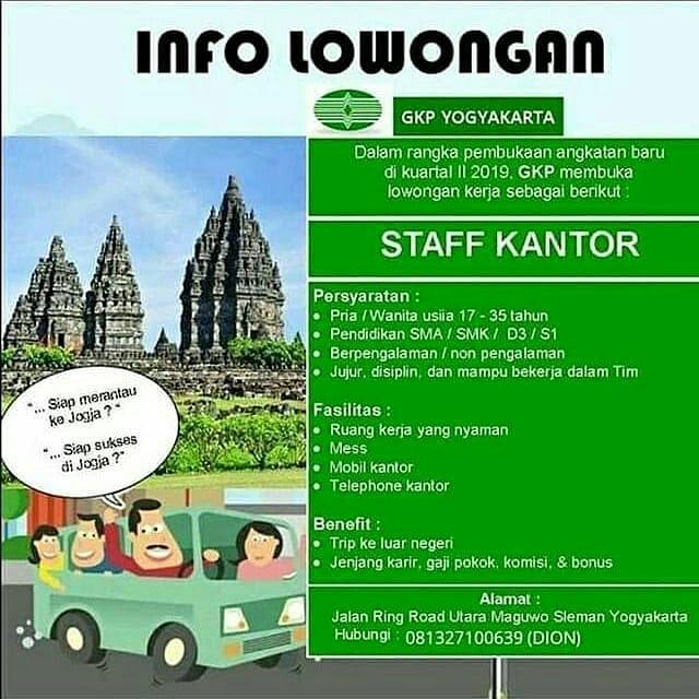 Lowongan Kerja Gkp Yogyakarta Sebagai Staff Kantor Bursa Lowongan Kerja