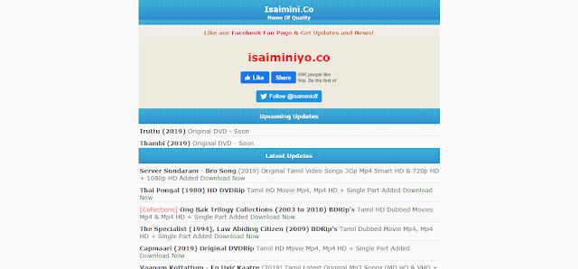 isaimini Tamil Movies Download Website