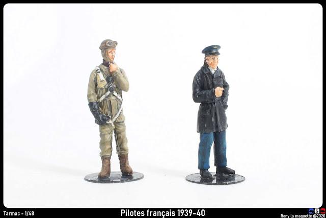 Figurines de pilotes français 1939-40 de Tarmac au 1/48.