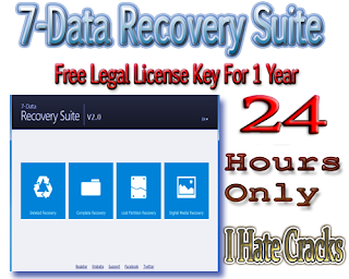 Get 7-Data Recovery Suite 3.2 With Free Legal License Key For 1 Year