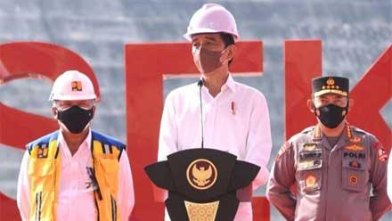 Presiden Jokowi Resmikan Bendungan Way Sekampung Lampung