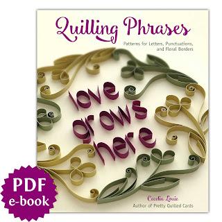 Quilling Phrases - PDF E-Book Cover