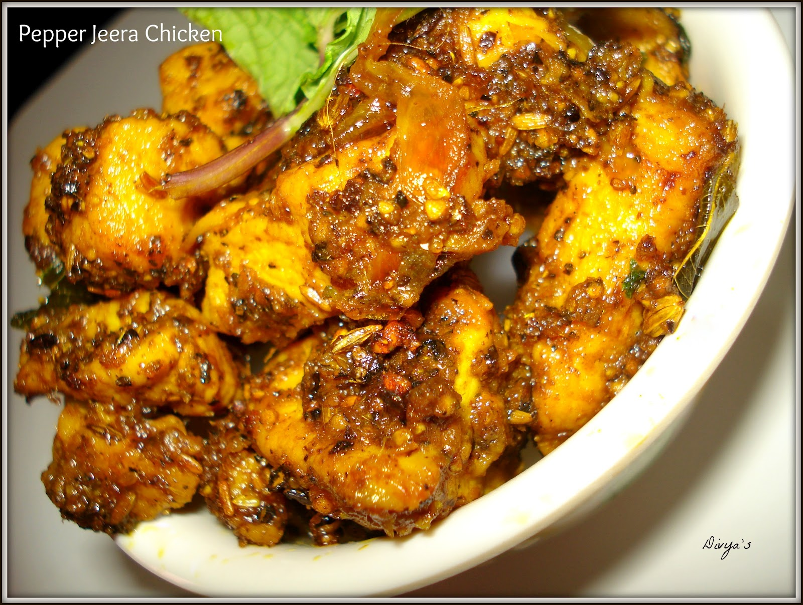 Pepper Jeera Chicken - You Too Can Cook