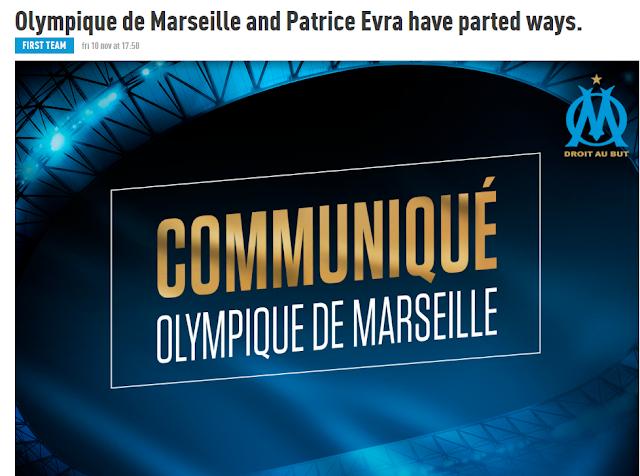 Marseille tetapkan Kontrak Patrice Evra sehabis Aksi tidak terpuji menendang kepala supo Berita Terhangat Marseille Putus Kontrak Patrice Evra