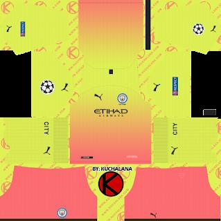 Manchester City 2019/2020 champions league Kit - Dream League Soccer Kits