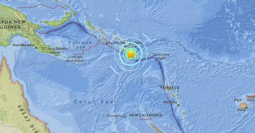 TERREMOTO EN ISLAS SALOMÓN de magnitud 5.9 y Alerta de Tsunami (Hoy Martes 17 Julio 2018) Sismo Temblor EPICENTRO Lata - USGS