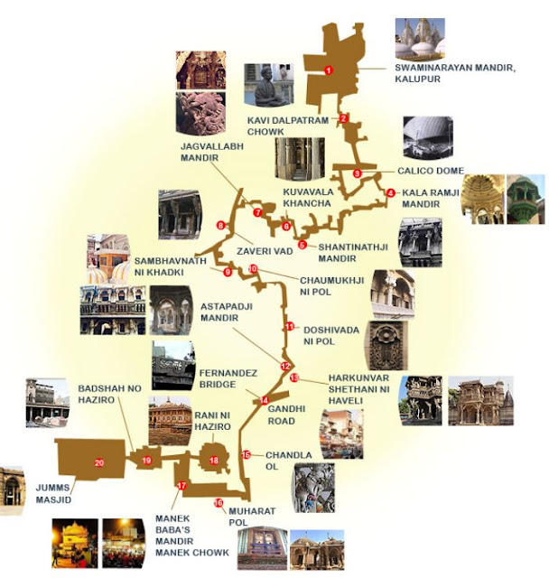 What is Ahmedabad Heritage Tour - MAP