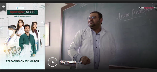 Play Operation MBBS (2020) Indian Hindi Web Series Trailer online for free