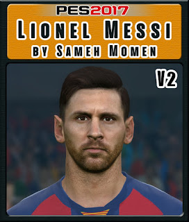 PES 2017 Faces Lionel Messi by Sameh Momen