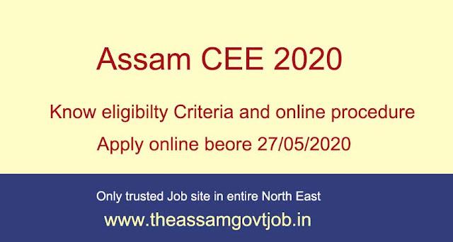 Assam CEE 2020: