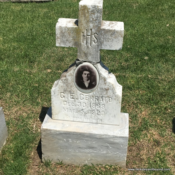 vintage gravesite at Sunset View Cemetery in El Cerrito, California