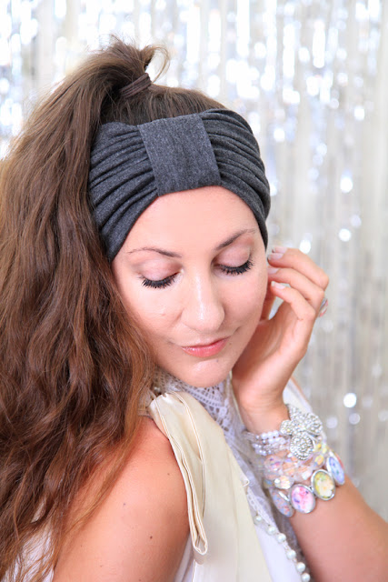Turban Headband in Dark Heather by Mademoiselle Mermaid