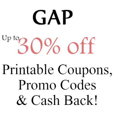 GAP Printable Coupon February, March, April, May, June, July 2016