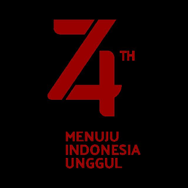Desain Logo HUT RI ke 74 PNG