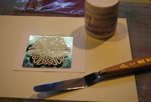 stencil and embossing paste