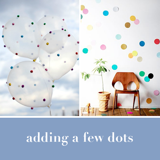 adding a few dots >>