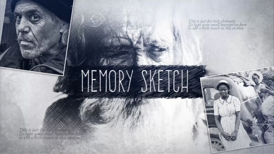 Download VIdeoHive Memory Sketch Opener Free