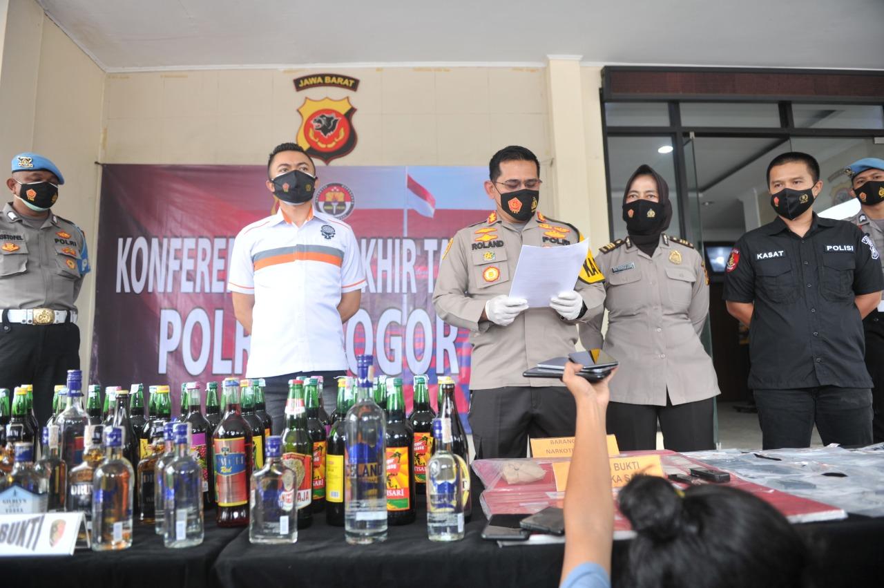 Kapolres Bogor : Selama Tahun 2020 Laka Lantas Turun 20 persen