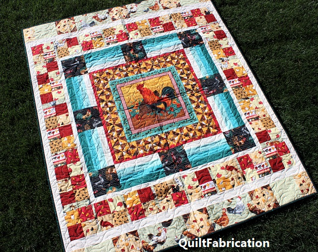 Round Robin Rooster quilt
