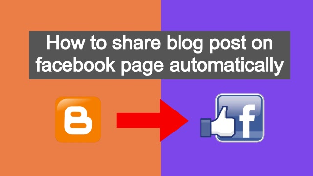 how to share blog post on facebook page automatically