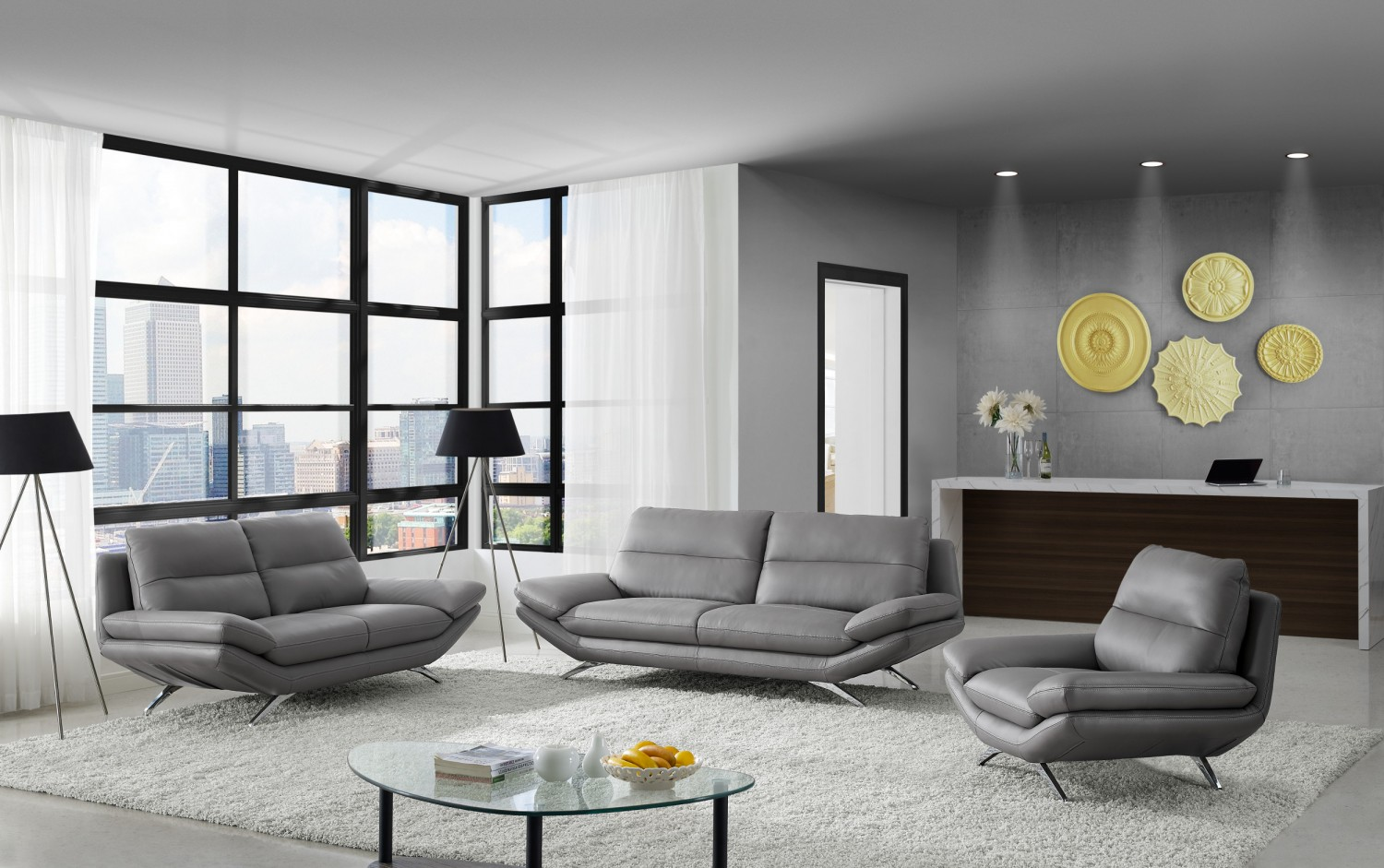 Modern living room sets spacious contemporary and modern furniture