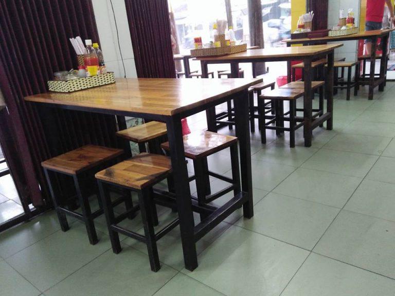 mẫu bàn ghế gỗ nhà hàng