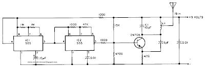 build a beacon transmitter circuit diagram electronic Basic Electric Circuit Schematics Electron Diagram