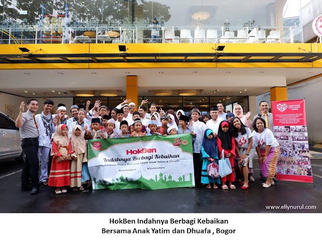 33 tahun hokben berbagi keceriaan dengan 3300 anak yatim dan dhuafa