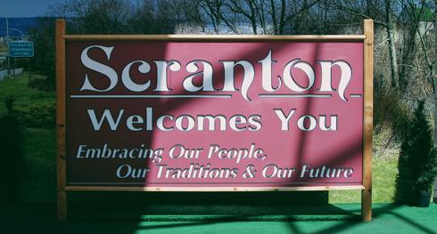 Scranton Sign Location Office