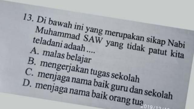 Soal Ujian Siswa SD di Solok Dinilai Melecehkan Nabi Muhammad ﷺ
