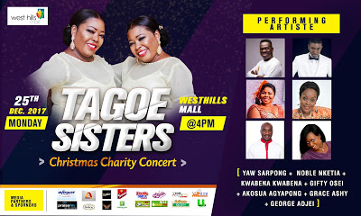 Tagoe Sisters Presents 'Christmas Charity Concert' To Support Mampong School For The Deaf Through music, Tagoe Sis