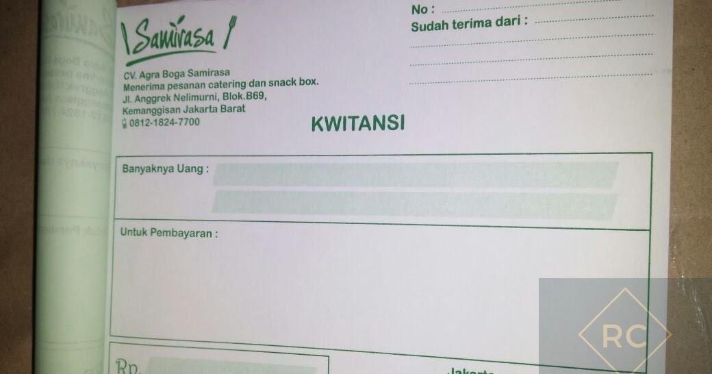 Contoh Kwitansi Pembayaran Catering Modif W