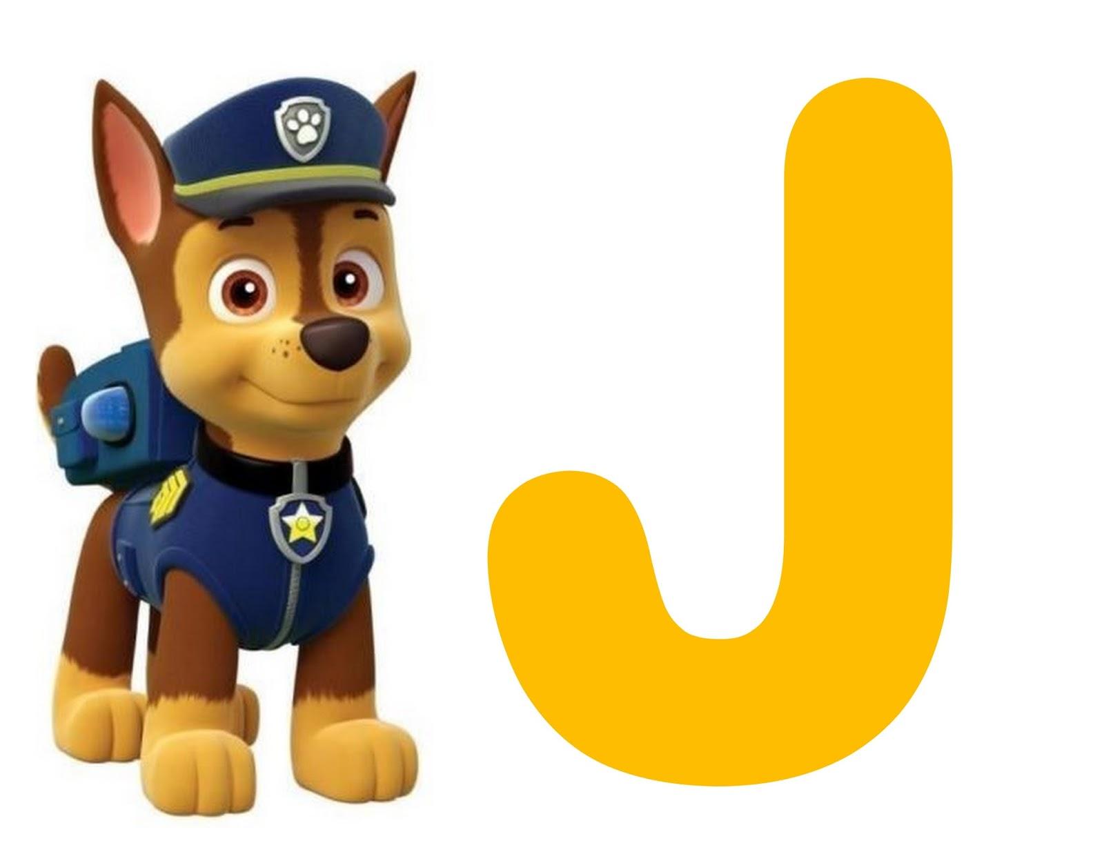 alfabeto de chase de la patrulla canina o paw patrol oh my alfabetos. Black Bedroom Furniture Sets. Home Design Ideas