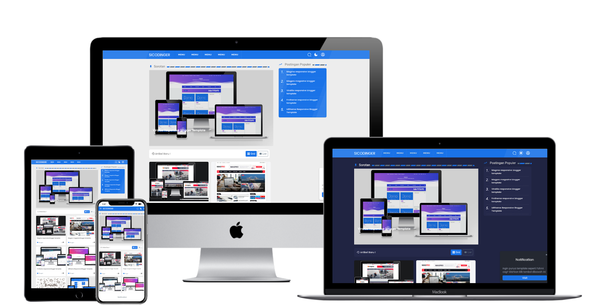 Ftheme Pro responsive blogger template