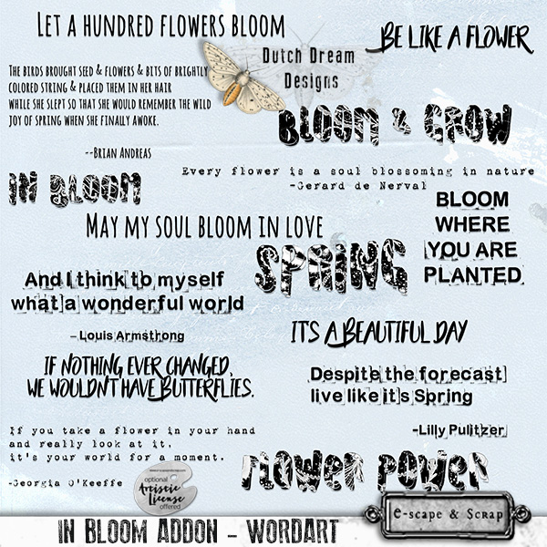 IN BLOOM ADDON WORDART