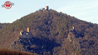 Alsacia francesa, los tres castillos