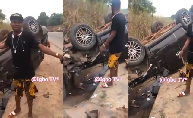 The Name Jesus Saves Young Man From A Fatal Motor Accident (Photos)