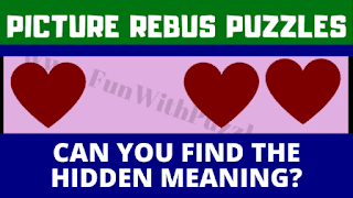 Can you find the hidden meaning of the given tricky rebus puzzles?