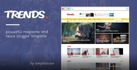 News & Magazine Responsive Blogger Template Free Download