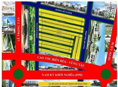 Sơ đồ phân lô dự án Thành Đô River Park