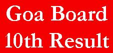 Goa Board 10th Result