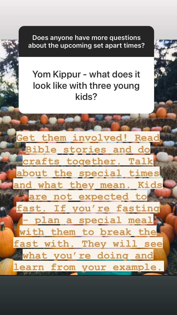 Yom Kippur for kids as believers in Messiah + Q and A on the fall Biblical holidays | Land of Honey