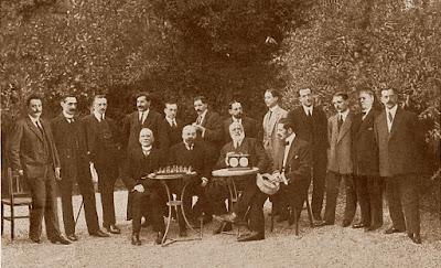 Ajedrecistas participantes en el Campeonato de Barcelona 1913