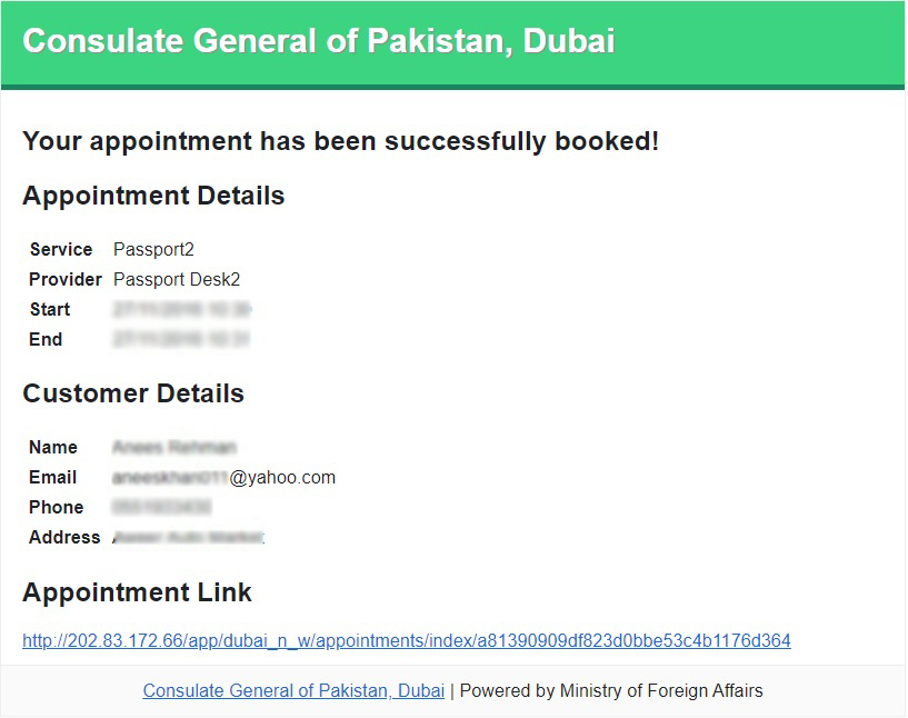 passport appointment online for pakistani passport