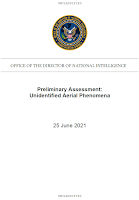 Pentagon UFO Report - Prelimary Assessment UAP (Pg 1 of 9) 6-25-21