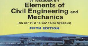 ELEMENTS OF CIVIL ENGINEERING AND MECHANICS (15CIV13/23
