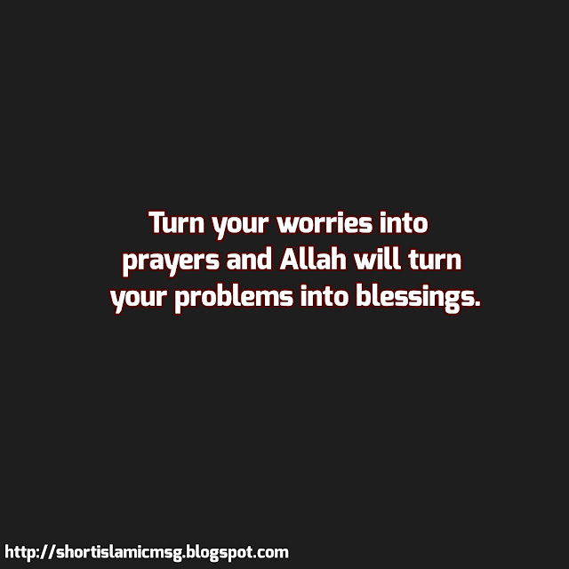 prayer worry and blessing