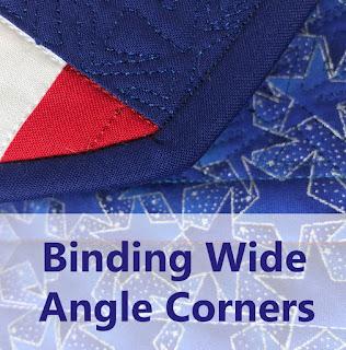 135 degree bound quilt corner
