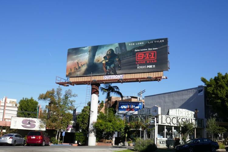 911 Lone Star series billboard
